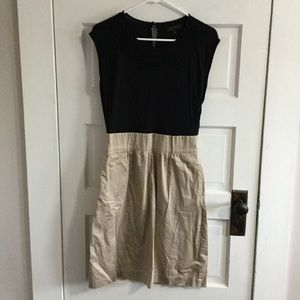 The Limited Dress Black top, tan skirt Women's 4